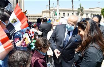 جامعة القاهرة تحتفل بيوم اليتيم بمشاركة 100 طفل| صور