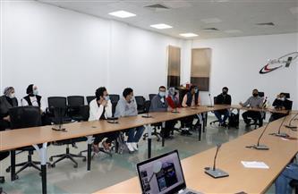 طلاب جامعة حلوان في زيارة لوكالة الفضاء المصرية بالعاصمة الإدارية| صور
