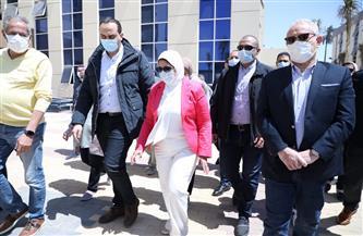 وزيرة الصحة تتفقد مستشفى الكرنك الدولي بالأقصر   صور