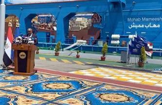 """بدء احتفال قناة السويس بـ""""الكراكة مهاب مميش"""" وانضمامها لأسطول الهيئة"""