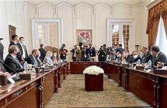 بدء جلسة مباحثات رسمية مصرية روسية بين وزيري خارجية البلدين   صور