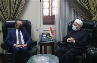 مفتي الجمهورية يستقبل السفير الأردني بالقاهرة لبحث تعزيز التعاون الإفتائي