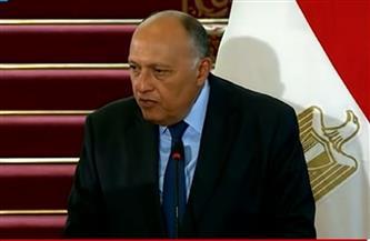 شكري: مصر تسعى إلى تسوية سياسية شاملة على نحو يحفظ وحدة ليبيا