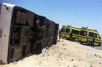 إصابة 13 عاملًا في حادث انقلاب أتوبيس على الطريق الإقليمي بالمنوفية