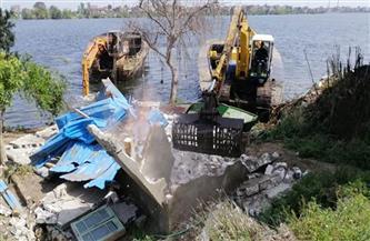 البحيرة تزيل 39 تعديًا على حرم نهر النيل في كوم حمادة