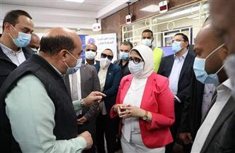 وزيرة الصحة تستهل زيارتها لأسوان بتفقد وحدة طب أسرة الشراونة بإدفو