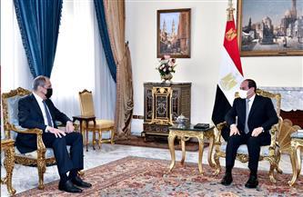 الرئيس السيسي يستقبل وزير خارجية روسيا