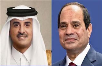 الرئيس السيسي يتلقى اتصالًا من أمير دولة قطر