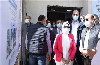 وزيرة الصحة تختتم جولاتها بتفقد مستشفى دراو والعزل بالصداقة في أسوان