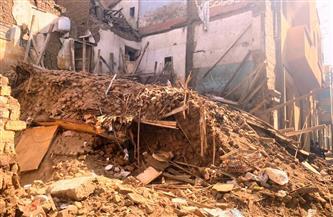 انهيار منزل من 4 طوابق في دمنهور