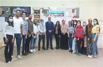 رئيس جامعة الأقصر يتفقد مشروعات الطلاب بكلية الفنون الجميلة |صور