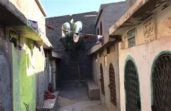 والدة «ريماس» الطفلة القتيلة بدكرنس تضع زينة رمضان على قبرها | صور