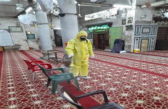 حملة موسعة لتعقيم مسجد  الخازندار القاهرة استعدادًا لشهر رمضان المبارك | صور