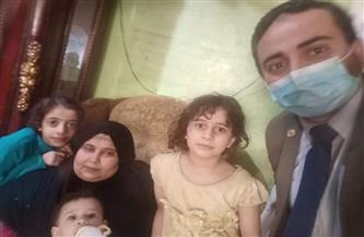 نائب التنسيقية محمود القط يستجيب لاستغاثة سيدة تعاني من مرض هي وزوجها