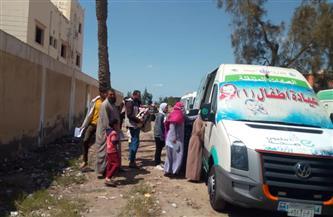 الكشف على 300 مريض ضمن قافلة سكانية بقرية الجرف في البحيرة | صور