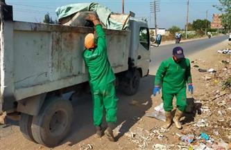 رفع 230 طنًا من القمامة فى حملات نظافة بقرى شبين الكوم بالمنوفية | صور