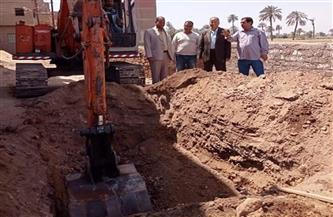 بدء مشروع الصرف الصحي بقرية الشيخ عمار بمركز طما | صور
