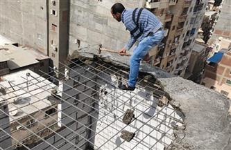 إزالة عقار مخالف بمنطقة الإبراهيمية وسط الإسكندرية | صور