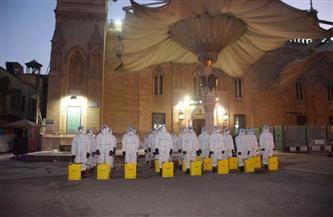 القوات المسلحة تقوم بأعمال التطهير والتعقيم لعدد من المساجد الكبرى خلال رمضان| صور