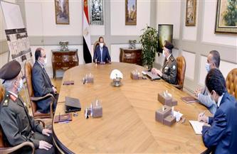 الرئيس السيسي يوجه بتطوير وتوسعة محور كوبري 6 أكتوبر والطرق السطحية أسفله
