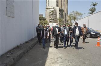 محافظ الجيزة يتفقد أعمال التطوير بشارعي البحر الأعظم والنيل | صور
