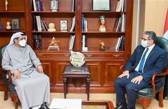 «العناني» يستقبل سفير دولة الإمارات العربية المتحدة بالقاهرة | صور