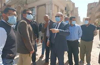 سكرتير عام محافظة المنوفية يتابع مشروعات بمبادرة «حياة كريمة» بالشهداء