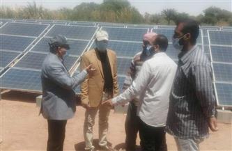 وكيل وزارة الري يتابع أعمال تحويل تشغيل الآبار بالطاقة الشمسية  صور