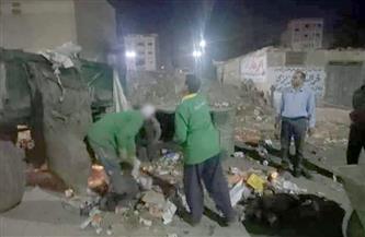 حملة نظافة مسائية بمدينة بركة السبع بمحافظة المنوفية |صور