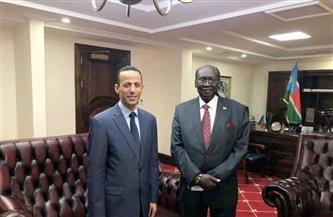 سفير مصر في جوبا يلتقي بوزير شئون الرئاسة الجديد بجنوب السودان