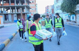 """""""مستقبل وطن مطروح"""": توزيع كراتين مواد غذائية على مراكز السلوم والضبعة والحمام"""
