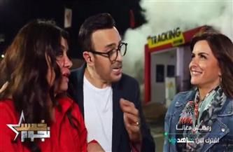"""نور اللبنانية تعاون صابر الرباعي في خناقة شوارع بـ""""خمس نجوم"""""""