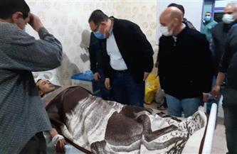 خروج 12 مصابا في حادث انقلاب عربتي قطار بمنيا القمح  صور