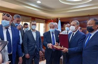 محافظ كفر الشيخ يستقبل وزير التموين بديوان عام المحافظة| صور