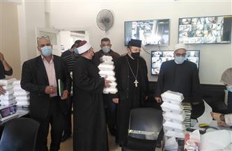 أوقاف دمياط توزع 120 وجبة طعام على مرضى مستشفى الحميات| صور