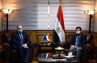 وزير الشباب والرياضة يبحث سُبل التعاون مع سفير الاتحاد الأوروبي بالقاهرة