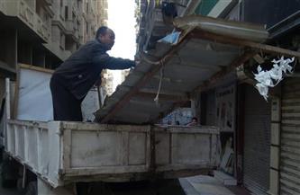 حملة مكبرة لإزالة المخلفات وإشغالات الباعة شرق الإسكندرية | صور