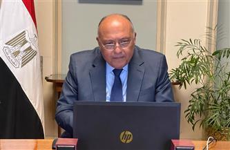 سامح شكرى يجري مشاورات سياسية مع نظيره المغربي بالفيديوكونفرانس | صور