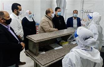 نائب محافظ الجيزة يتفقد مستشفى الوراق المركزي |صور