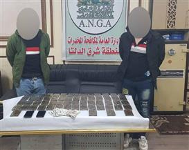 سقوط شخصين بحوزتهما 60 طربة حشيش بالدقهلية