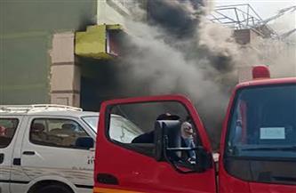 حريق بمخزن قطن داخل منزل في حي الأربعين بالسويس وإصابة شخصين في الحادث