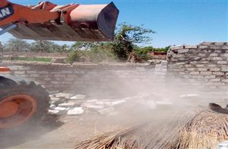 إزالة 8 تعديات على أراضي الدولة بالبحيرة