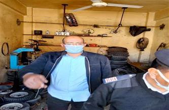 تحرير 11 محضرًا للورش والمحال التجارية بأخميم في حملة تفتيشية