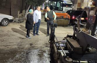 محافظ المنوفية يقرر تحميل إعادة أعمال الرصف أمام المستشفى التعليمي على نفقة المقاول ومحاسبة المختصين  صور