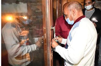 غلق وتشميع 4 مقاهٍ ومصادرة 25 شيشة في قطور بالغربية