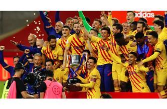 """برشلونة """"91"""".. أرقام قياسية في """"كأس الملك"""" و""""تاريخية"""" لميسي وجريزمان"""