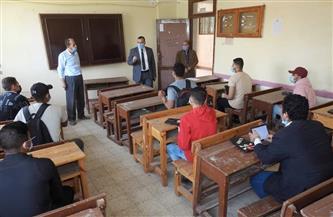 وكيل وزارة التعليم بالمنوفية يتفقد الامتحان التجريبي للثانوية العامة في يومه الأول| صور