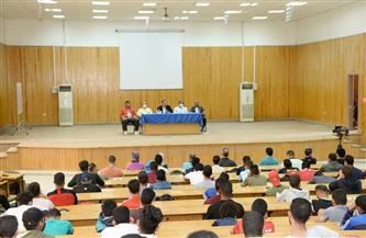 نائب رئيس جامعة أسيوط يشارك في انطلاق المعسكر الكشفي بكلية التربية الرياضية | صور