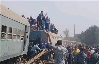 """السكة الحديد تكشف تفاصيل حادث قطار """"القاهرة - المنصورة"""""""