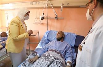 وزيرة الصحة توجه بنقل 3 من مصابي قطار طوخ إلى معهد ناصر لتلقي الرعاية الطبية  صور